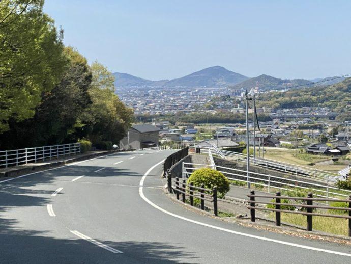 阿弥陀寺から眺めた防府の街
