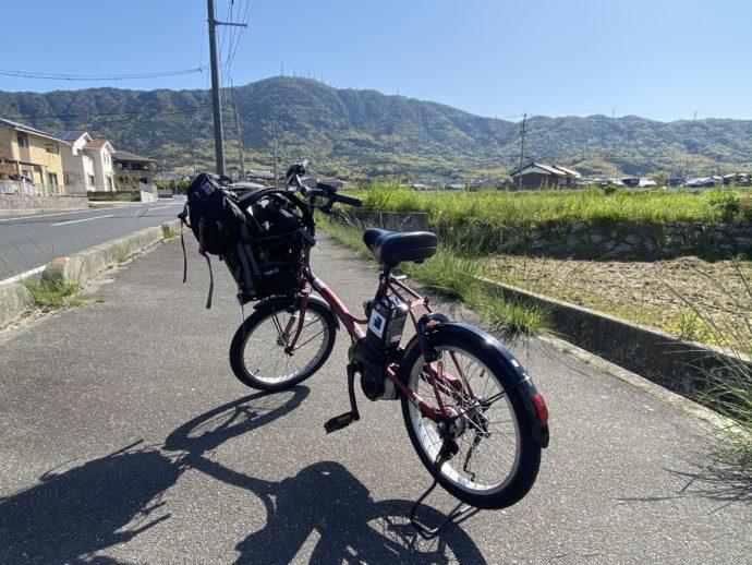 レンタサイクルと防府の道路