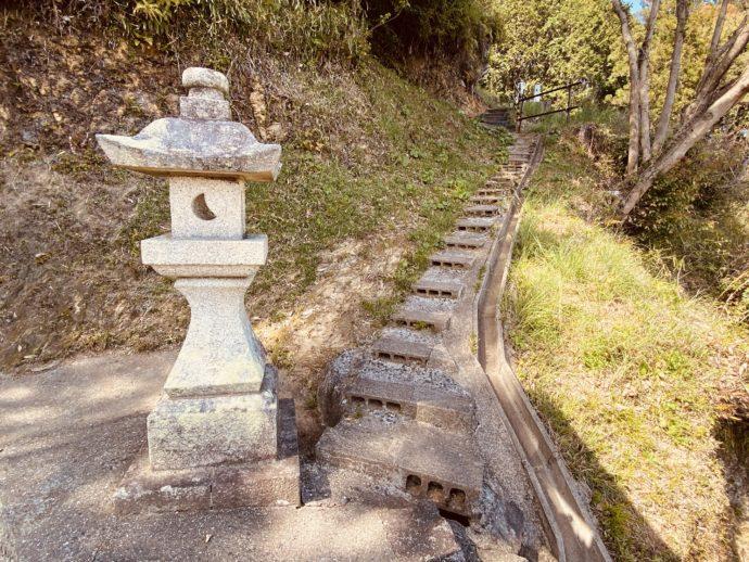 金刀比羅神社からの階段