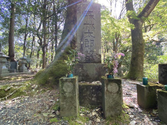 永明寺の森林太郎の墓