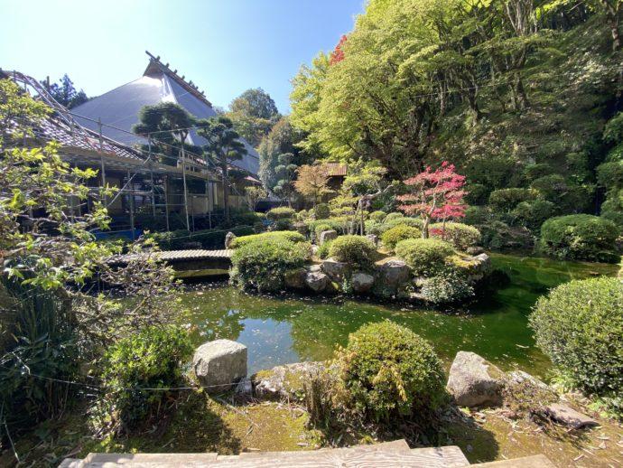 永明寺の庭園