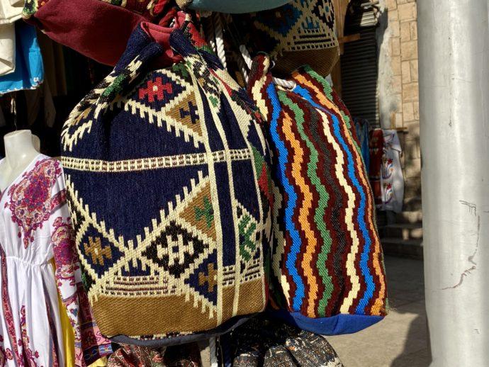 エジプト織のバッグ