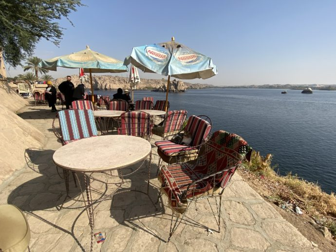 イシス神殿のカフェ