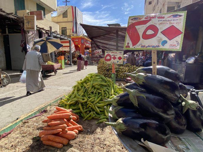 大量の野菜販売