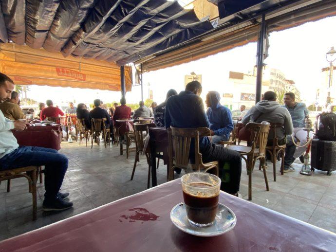 カフェで飲むエジプトコーヒー