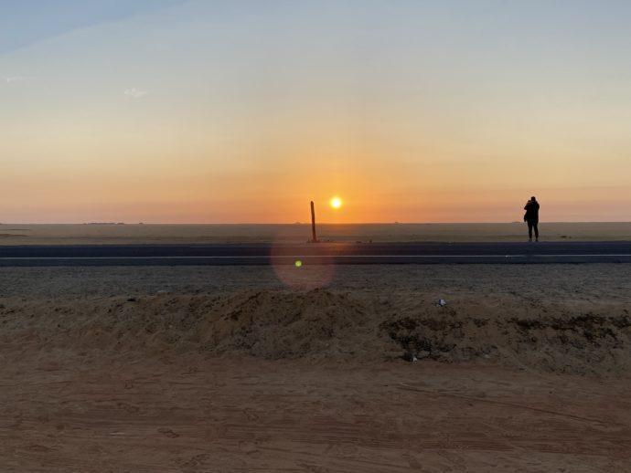 エジプトの朝焼け