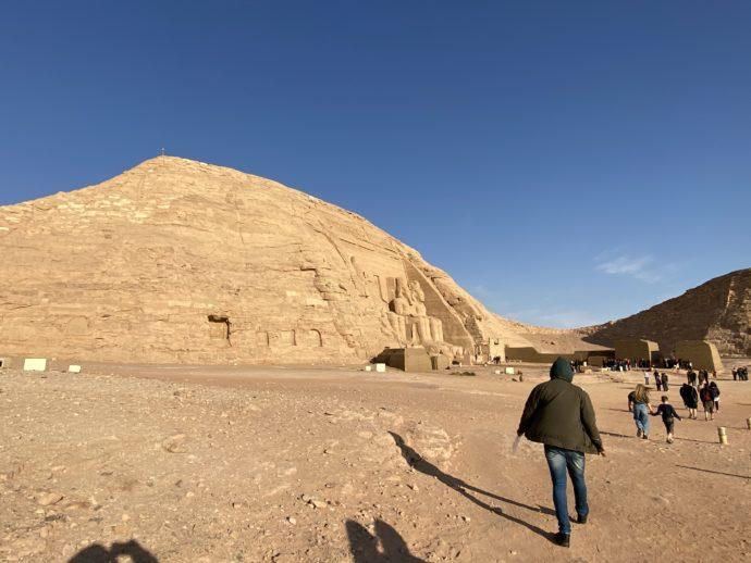 アブ・シンベル神殿エリアの歩道