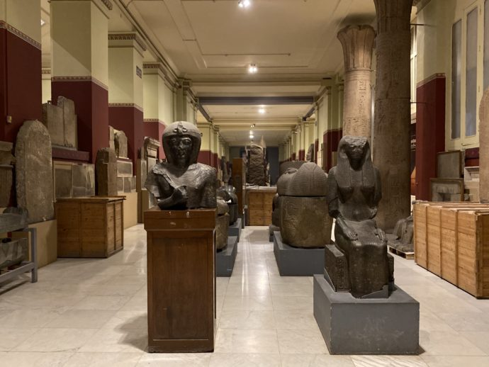 閉館間際のエジプト考古学博物館