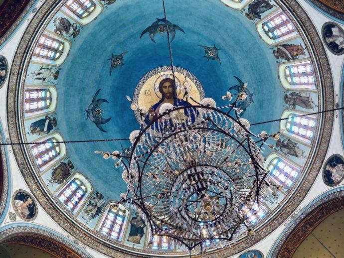 ドーム型礼拝堂の天井画