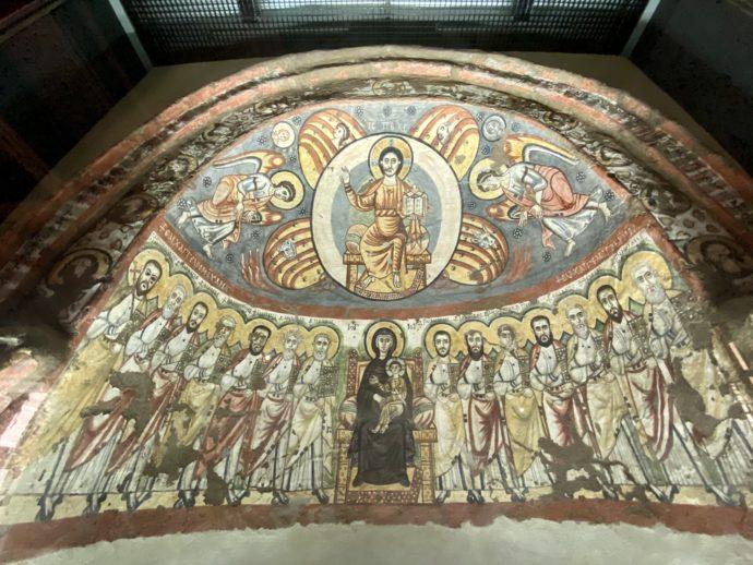 ドーム型のキリストと使徒のイコン