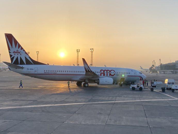 エジプト国内線の飛行機