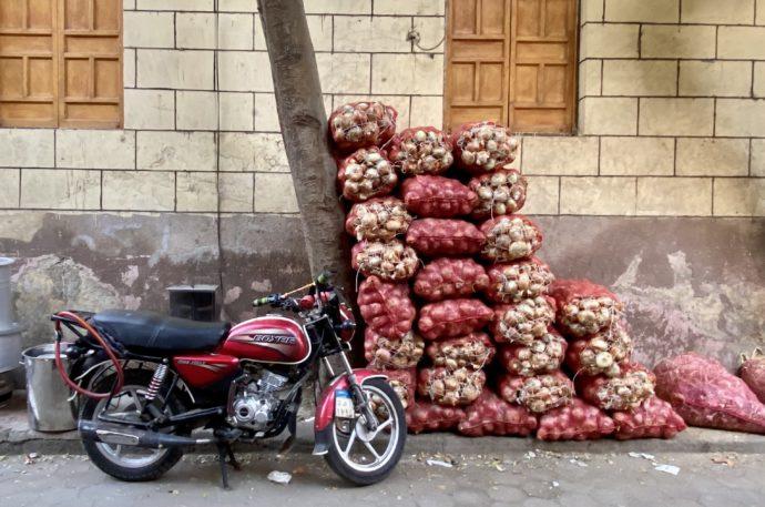 玉ねぎとバイク