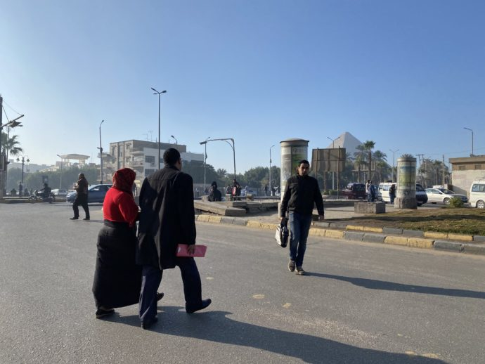 Mash'al bus stopエリア