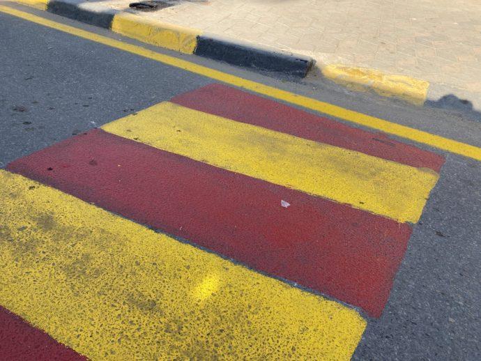 エジプトの横断歩道