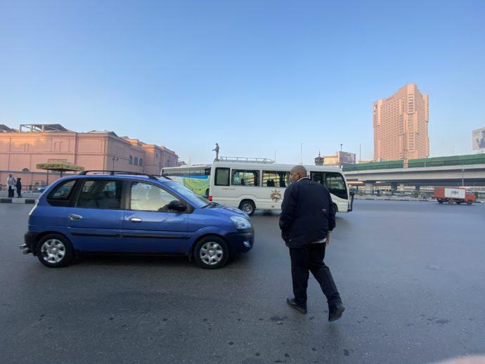 タハリール広場付近