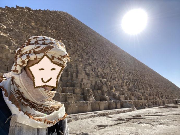クフ王のピラミッドと太陽と私