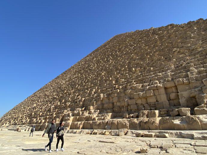 クフ王のピラミッド北側