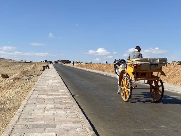 馬車と道路
