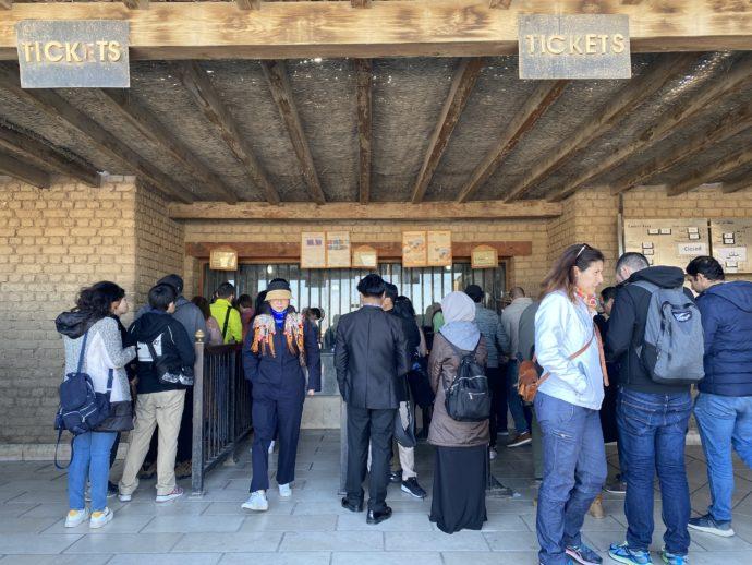 クフ王側ゲートの切符売り場