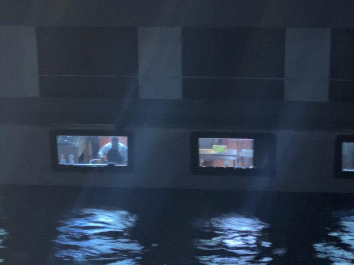 クルーズ船のレストラン室
