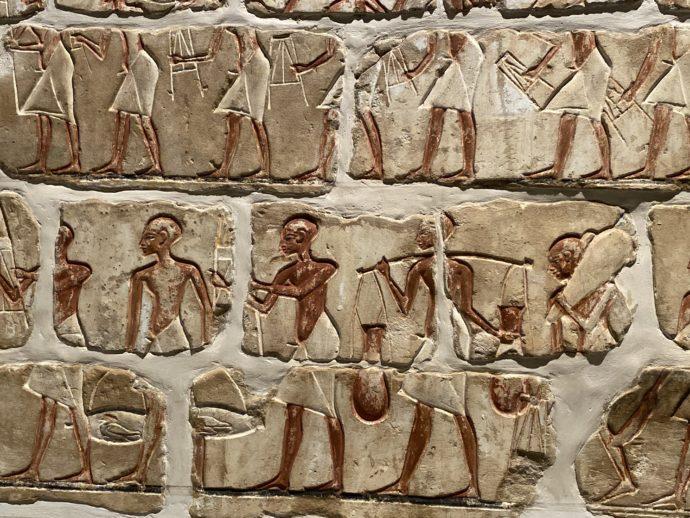 アテン神殿の壁画