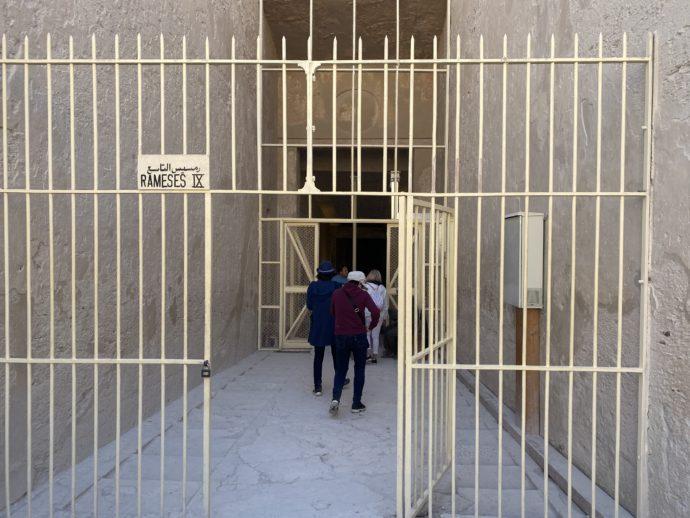 ラムセス9世の墓の入口
