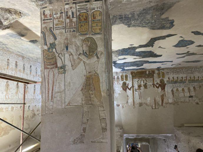 メルエンプタハの墓の壁画