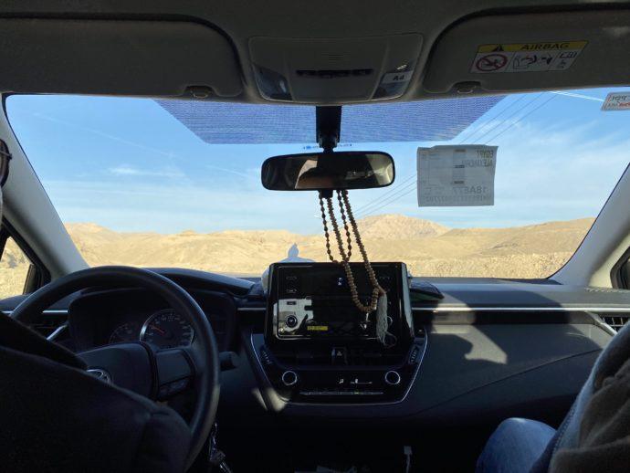 王家の谷へ向かう車内