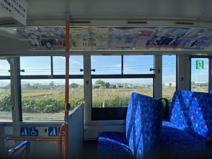 会津バス の車内