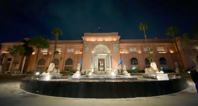 夜のエジプト考古学博物館