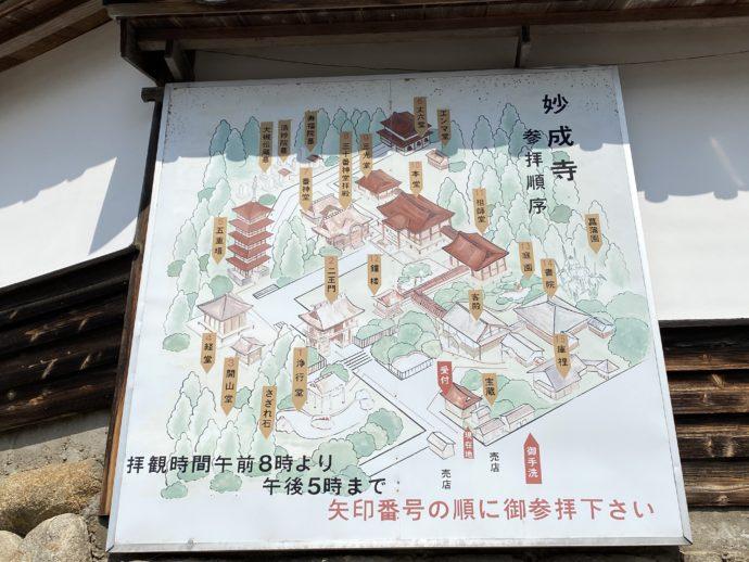 妙成寺案内図