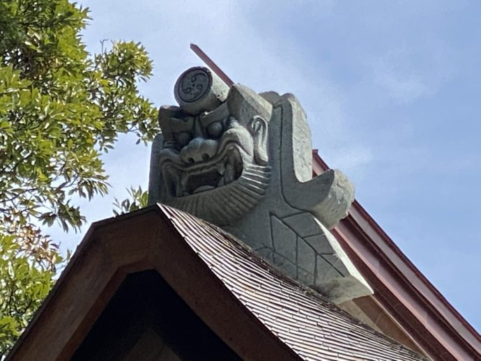 妙成寺三光堂の鬼瓦