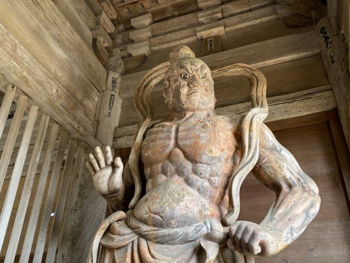 妙成寺の吽形像