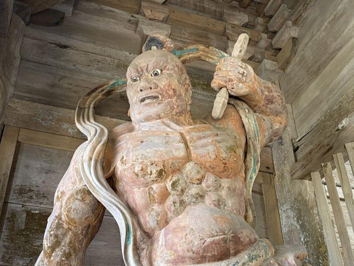 妙成寺の阿形像