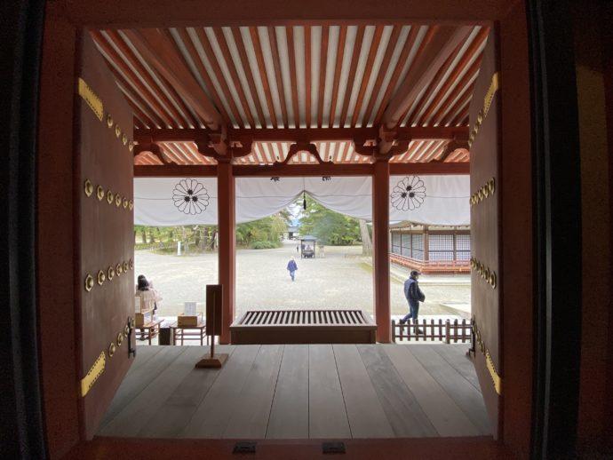 毛越寺本堂からの景色