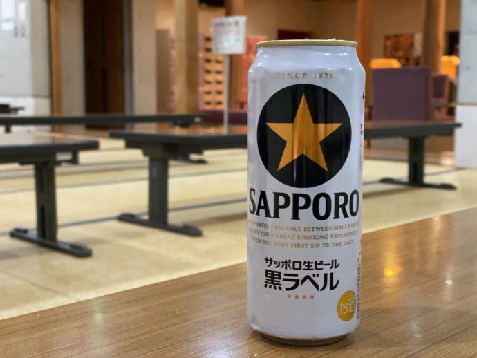 平泉温泉で飲んだサッポロビール