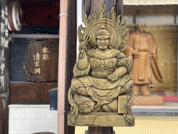 増長天の木彫り
