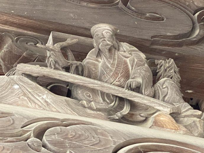 瑞泉寺山門の井波彫刻